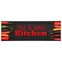 vidaXL Kitchen Carpet Washable Hot & Spicy 60x300 cm