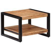 vidaXL Klubska mizica 60x60x40 cm trden akacijev les