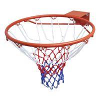 vidaXL Košarkarski koš komplet z obročem in mrežo oranžen 45 cm