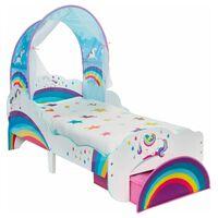 Worlds Apart Otroška postelja s predalom samorog 142x77x128 cm