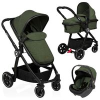 Baninni Otroški voziček Otto 3 v 1 olivno zelen