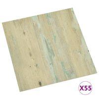 vidaXL Samolepilne talne plošče 55 kosov PVC 5,11 m² svetlo rjave