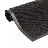 vidaXL Protiprašni predpražnik pravokotni taftani 120x180 cm črn