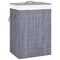 vidaXL Košara za perilo iz bambusa siva 72 L