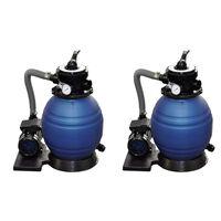 vidaXL Črpalke s peščenim filtrom 2 kosa 400 W 11000 l/h