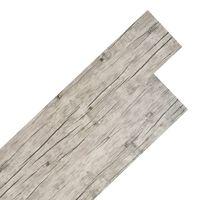 vidaXL PVC talne plošče 4,46 m² 3 mm svetlo sive