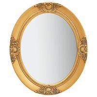 vidaXL Stensko ogledalo v baročnem stilu 50x60 cm zlato