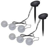 vidaXL Plavajoče svetilke 6 kosov LED za ribnik in bazen
