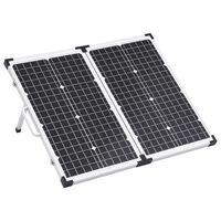 vidaXL Zložljiv solarni kovček 60 W 12 V