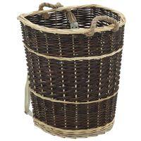 vidaXL Nahrbtnik za prenašanje drv s trakovi 44,5x37x50 cm naravna vrba