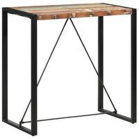 vidaXL Barska miza 110x60x110 cm iz trdnega predelanega lesa