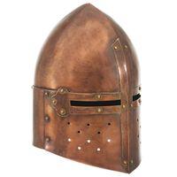 vidaXL Srednjeveška viteška čelada starinska kopija LARP bakreno jeklo