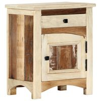 vidaXL Nočna omarica 40x30x50 cm trden predelan les