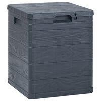 vidaXL Vrtna škatla za shranjevanje 90 L antracitna