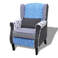 vidaXL Fotelj iz tekstila motiv mozaik