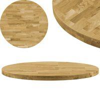vidaXL Površina za mizo trden hrastov les okrogla 44 mm 500 mm