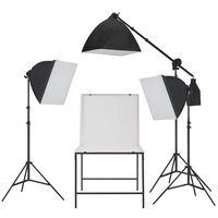 vidaXL Studijski komplet za osvetlitev softbox in fotografska miza