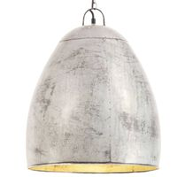 vidaXL Industrijska viseča svetilka 25 W srebrna okrogla 42 cm E27