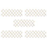 vidaXL Mrežaste ograje 5 kosov les jelke 180x60 cm