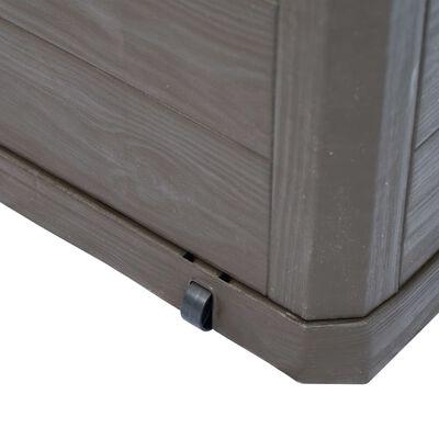 vidaXL Vrtna škatla za shranjevanje 280 L rjava