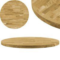 vidaXL Površina za mizo trden hrastov les okrogla 44 mm 900 mm