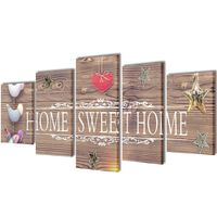 Set platen s printom Home Sweet Home 200 x 100 cm