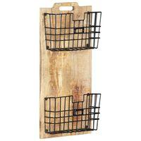 vidaXL Stensko stojalo za revije 33x10x67 cm trden robusten mangov les