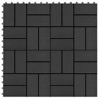 vidaXL Talne plošče 11 kosov WPC 30x30 cm 1 m² črne