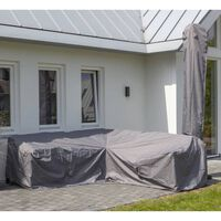 Madison Pokrivalo za zunanje pohištvo 270x210x90 cm desno sivo