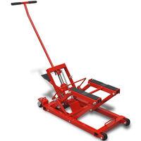 Rdeča Hidravlična Dvigalka za Motorna Kolesa/Terenska Vozila 680 kg