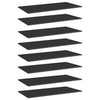 vidaXL Dodatne police za omaro 8 kosov visok sijaj črne 80x20x1,5 cm