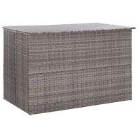 vidaXL Vrtna škatla za shranjevanje siva 150x100x100 cm poli ratan