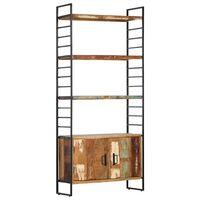 vidaXL Knjižna omara 4-nadstropna 80x30x180 cm trden predelan les