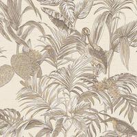 DUTCH WALLCOVERINGS Tapeta Bird-of-Paradise krem