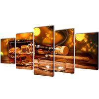 Set platen s printom viskija in cigar 200 x 100 cm