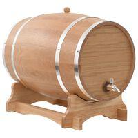 vidaXL Sod za vino s pipo trdna hrastovina 35 L