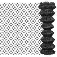 vidaXL Verižna ograja iz jekla 15x1,25 m siva