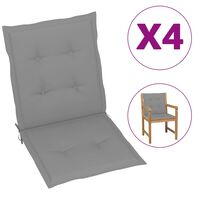 vidaXL Blazine za vrtne stole 4 kosi sive 100x50x4 cm