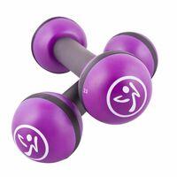 Zumba Uteži za oblikovanje mišic 2 kosa 1 kg vijolične