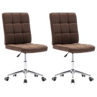 vidaXL Jedilni stoli 2 kosa rjavo blago