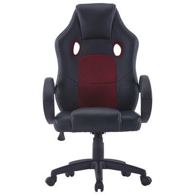 vidaXL Gaming stol vinsko rdeče umetno usnje