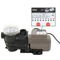 vidaXL Črpalka za bazen s časovnikom črna 0,25 KM 8000 L/h