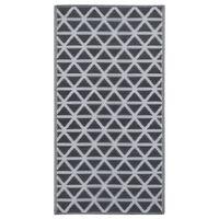 vidaXL Zunanja preproga črna 80x150 cm PP