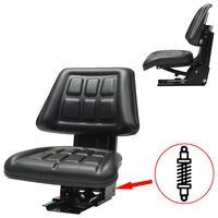 vidaXL Sedež za traktor z vzmetenjem črn