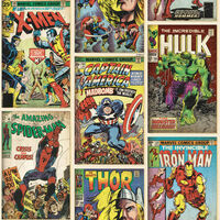 Kids at Home Tapeta Marvel Action Heroes