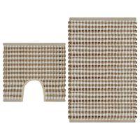 vidaXL Ročno pletene kopalniške preproge iz jute naravne in bele