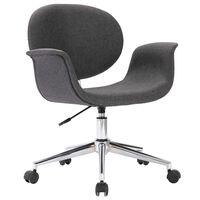 vidaXL Vrtljiv pisarniški stol sivo blago