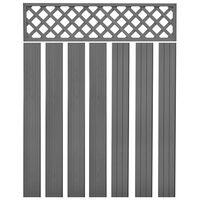 vidaXL Nadomestne ograjne plošče WPC 7 kosov 170 cm sive