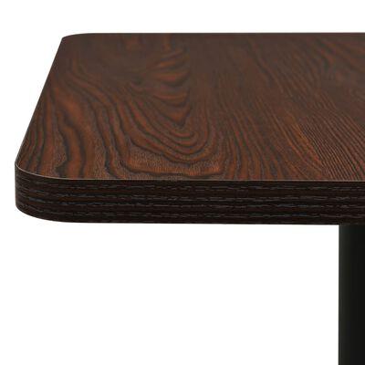 vidaXL Bistro miza temno pepelnata 78,5x78,5x107 cm