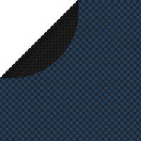 vidaXL Plavajoča PE solarna folija za bazen 488 cm črna in modra
